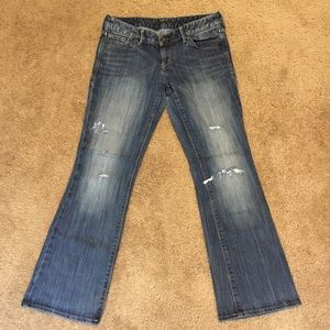 Express Boot Cut Distressed Jeans!